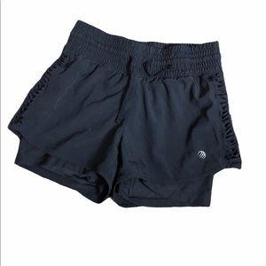 MPG black compression running shorts XS